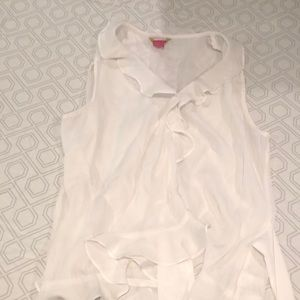 white sheer dress shirt